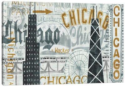 Hey Chicago Vintage Canvas Print #WAC957