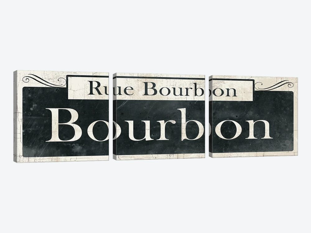 French Quarter Sign I by Wild Apple Portfolio 3-piece Art Print