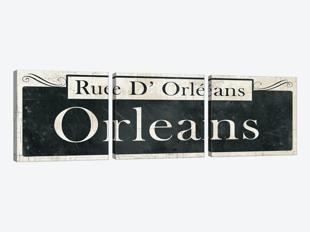 French Quarter Sign II 3-piece Canvas Art