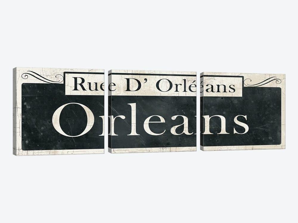 French Quarter Sign II by Wild Apple Portfolio 3-piece Canvas Art