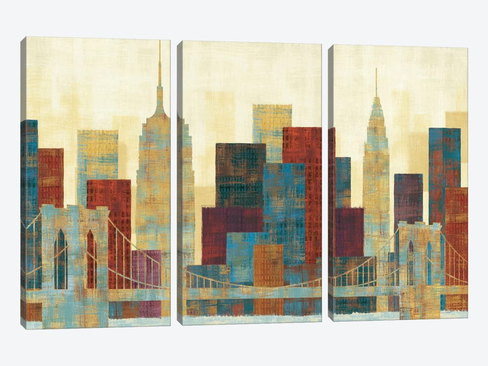 Majestic City by Michael Mullan 3-piece Canvas Print
