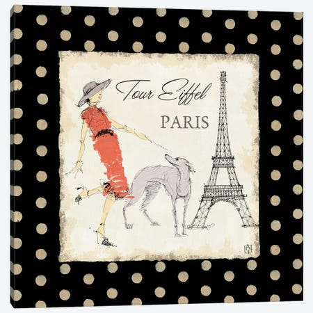 Ladies in Paris II Canvas Print #WAC95} by Avery Tillmon Canvas Art Print