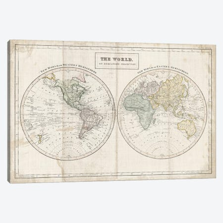 Old World Eastern Western Linen Canvas Print #WAC9600} by Wild Apple Portfolio Canvas Artwork