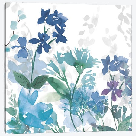 Colors of the Garden II Cool Shadows Canvas Print #WAC9607} by Wild Apple Portfolio Art Print