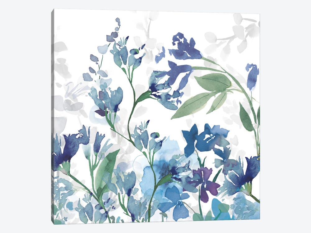 Colors of the Garden III Cool Shadows 1-piece Canvas Art Print