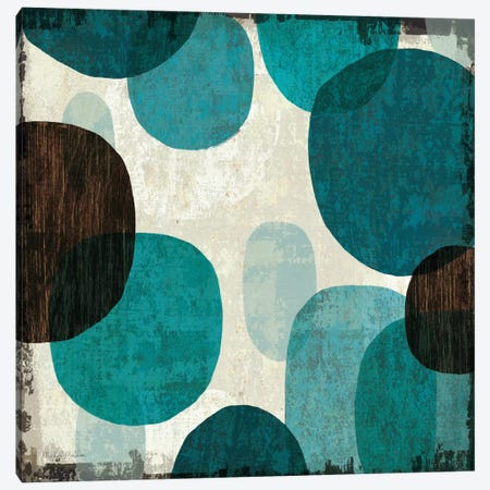 Blue Drips I  Canvas Print #WAC960} by Michael Mullan Canvas Print