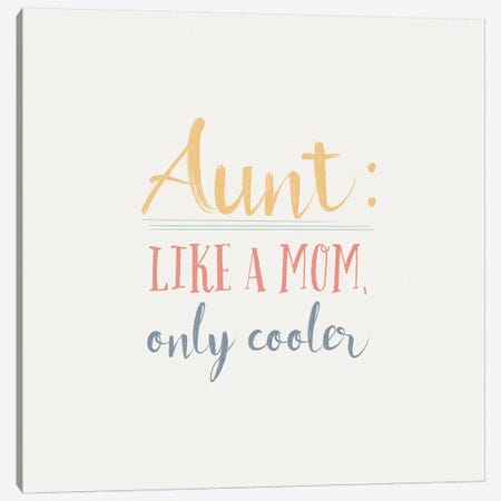 Aunt Inspiration I Color Canvas Print #WAC9626} by Wild Apple Portfolio Art Print