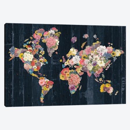 Botanical Floral Map Canvas Print #WAC9633} by Wild Apple Portfolio Canvas Art Print