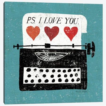 Vintage Desktop - Typewriter Canvas Print #WAC963} by Michael Mullan Canvas Art Print