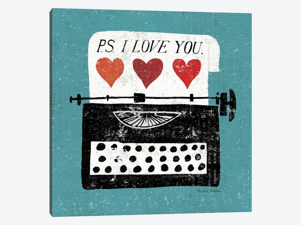 Vintage Desktop - Typewriter by Michael Mullan 1-piece Canvas Print