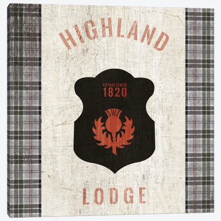 Tartan Lodge Shield I Canvas Print #WAC9650} by Wild Apple Portfolio Canvas Print