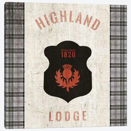 Tartan Lodge Shield I Canvas Print #WAC9650} by Wild Apple Portfolio Canvas Print