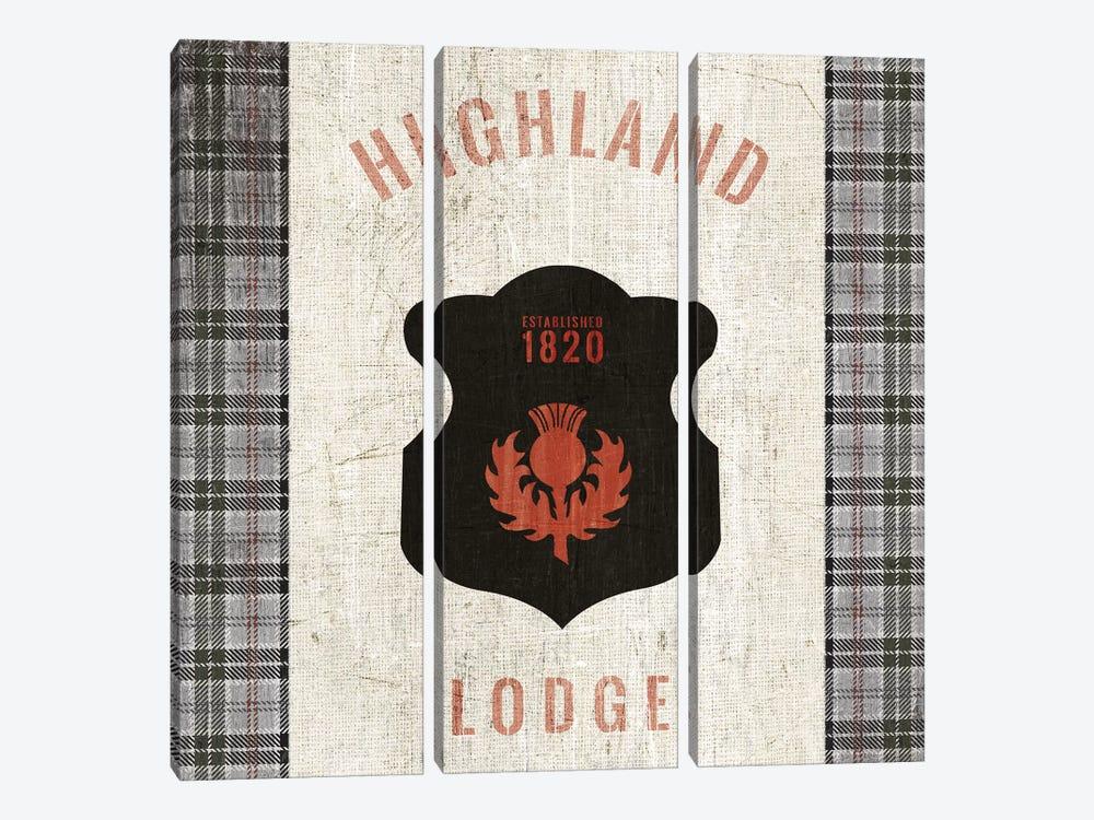 Tartan Lodge Shield I by Wild Apple Portfolio 3-piece Canvas Artwork