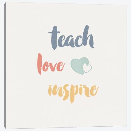 Teacher Inspiration I Color Canvas Print #WAC9653} by Wild Apple Portfolio Canvas Print