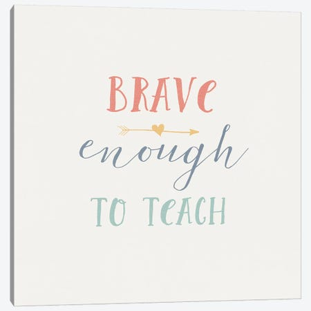 Teacher Inspiration II Color Canvas Print #WAC9655} by Wild Apple Portfolio Canvas Wall Art