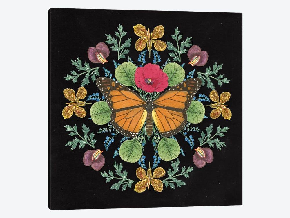 Butterfly Mandala I Black Canvas Art Print Wild Apple Portfolio Icanvas