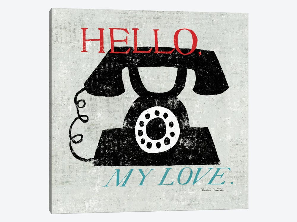 Vintage Desktop - Phone by Michael Mullan 1-piece Canvas Art Print