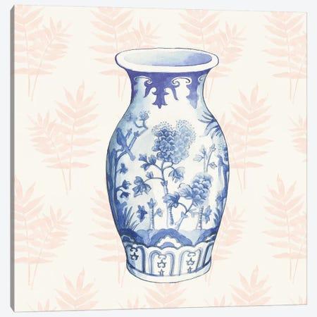 Ginger Jar II Coral Canvas Print #WAC9661} by Wild Apple Portfolio Canvas Artwork
