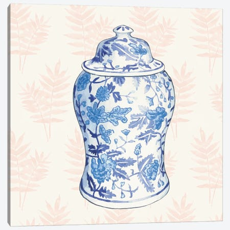Ginger Jar VI Coral Canvas Print #WAC9662} by Wild Apple Portfolio Canvas Wall Art