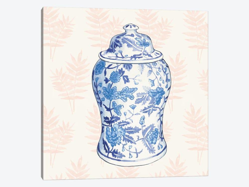 Ginger Jar VI Coral by Wild Apple Portfolio 1-piece Canvas Print