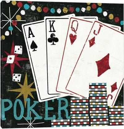 Vegas - Cards Canvas Art Print