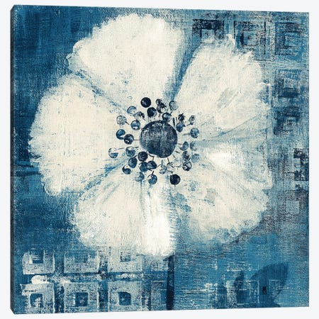 Daisy for Barbara Blue Crop Canvas Print #WAC9680} by Studio Mousseau Canvas Art