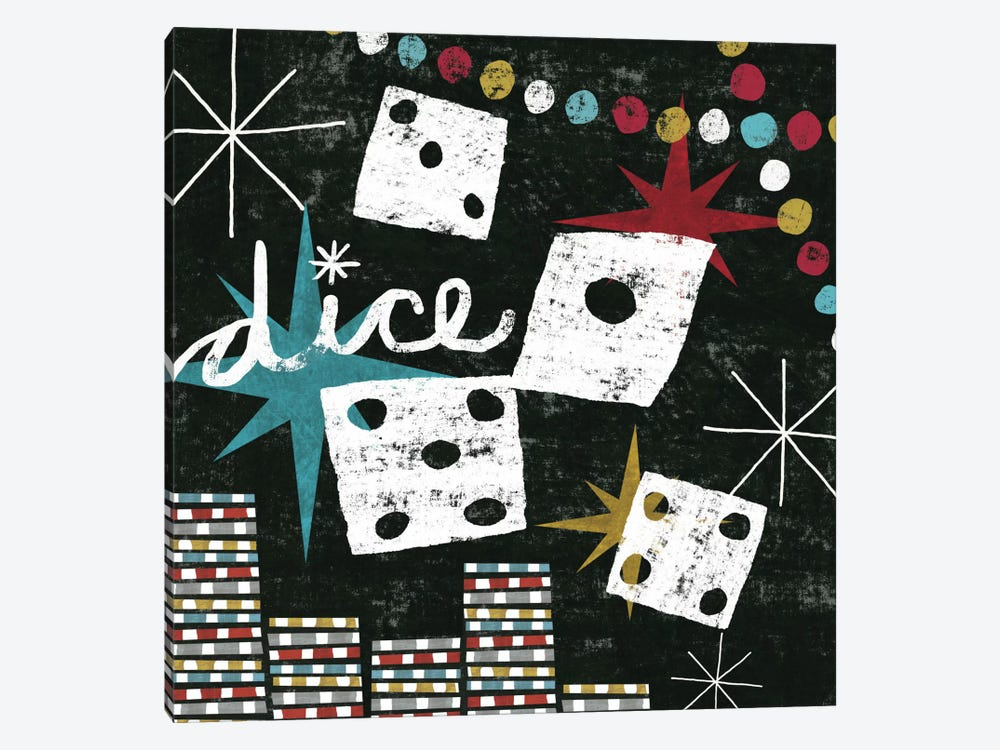 Vegas - Dice by Michael Mullan 1-piece Canvas Print