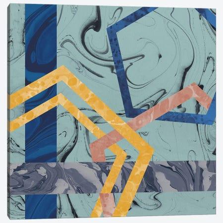 Terrazzo I Blue Canvas Print #WAC9708} by Wild Apple Portfolio Canvas Art Print