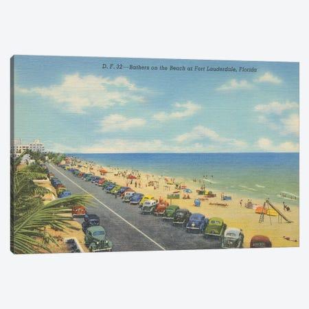 Beach Postcard II Canvas Print #WAC9712} by Wild Apple Portfolio Canvas Wall Art