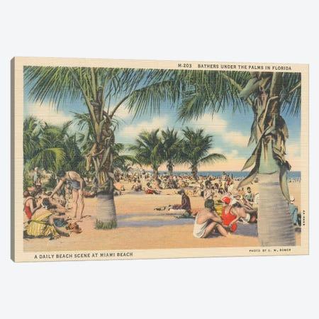 Beach Postcard III Canvas Print #WAC9713} by Wild Apple Portfolio Canvas Art