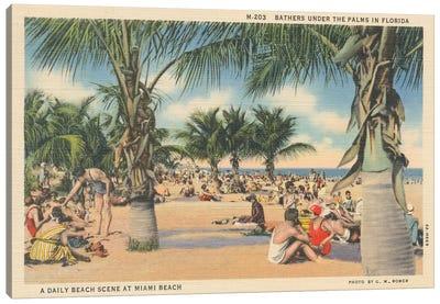 Beach Postcard III Canvas Art Print
