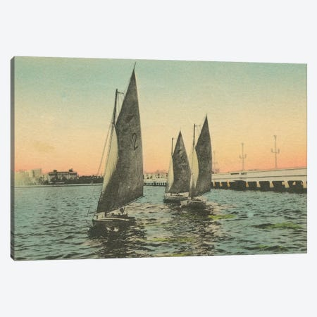 Florida Postcard I Canvas Print #WAC9716} by Wild Apple Portfolio Canvas Print