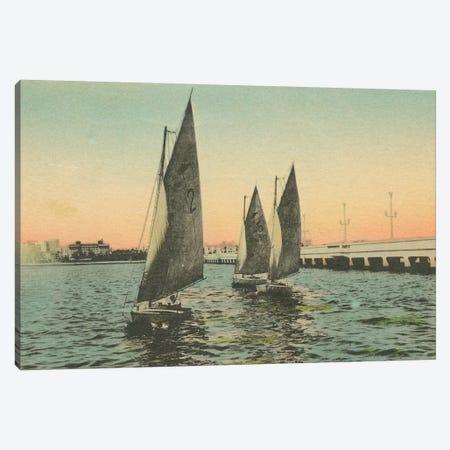 Florida Postcard I Canvas Print #WAC9716} by Wild Apple Portfolio Canvas Print