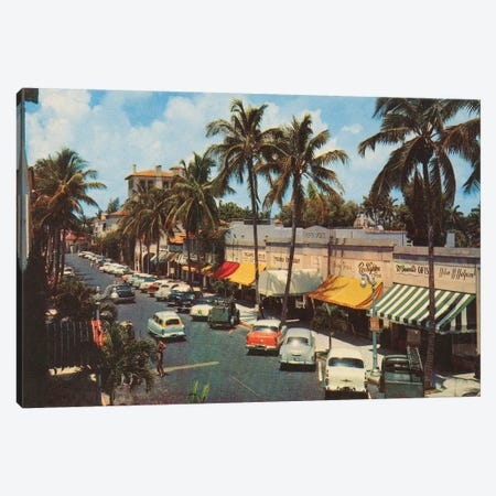 Florida Postcard IV Canvas Print #WAC9719} by Wild Apple Portfolio Canvas Art