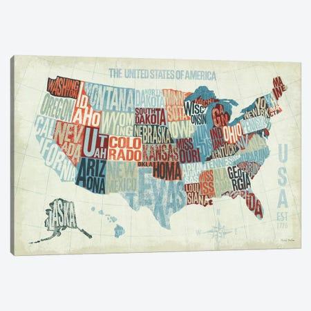USA Modern Blue  Canvas Print #WAC971} by Michael Mullan Canvas Artwork