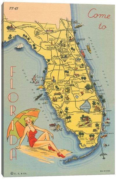 Florida Postcard VI Canvas Art Print