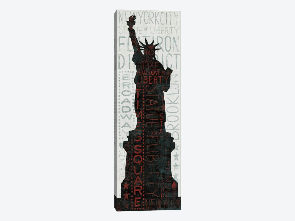 Statue of Liberty - Red by Michael Mullan 1-piece Canvas Art