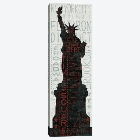 Statue of Liberty - Red Canvas Print #WAC973} by Michael Mullan Canvas Wall Art