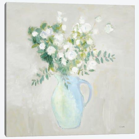 A Pitcher of Garden Flowers Light Sq Canvas Print #WAC9761} by Michael Clark Canvas Print
