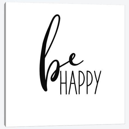 Be Happy Canvas Print #WAC9762} by Wild Apple Portfolio Canvas Print