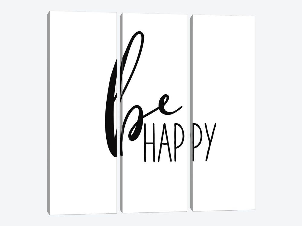 Be Happy by Wild Apple Portfolio 3-piece Canvas Art