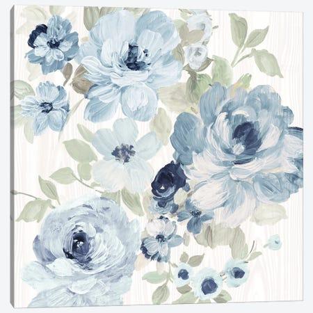 Driftwood Garden II Blue Crop Canvas Print #WAC9766} by Wild Apple Portfolio Canvas Artwork