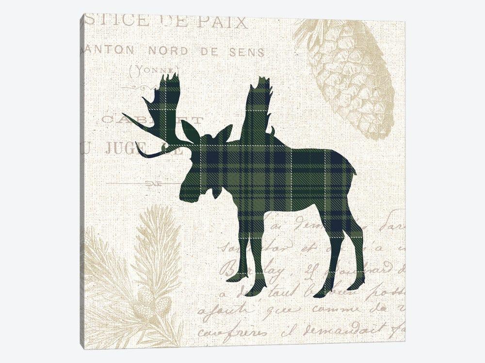 Plaid Lodge IV Navy Green by Wild Apple Portfolio 1-piece Art Print
