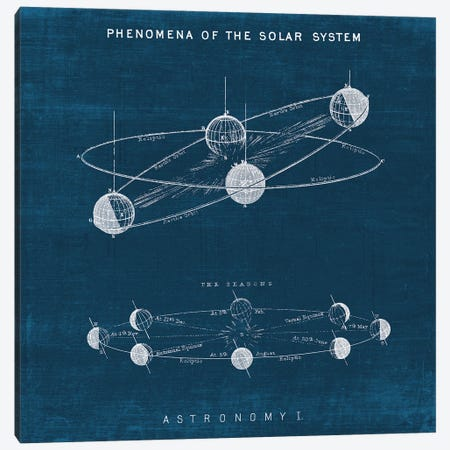 Solar System Blueprint I Canvas Print #WAC9783} by Wild Apple Portfolio Canvas Art Print