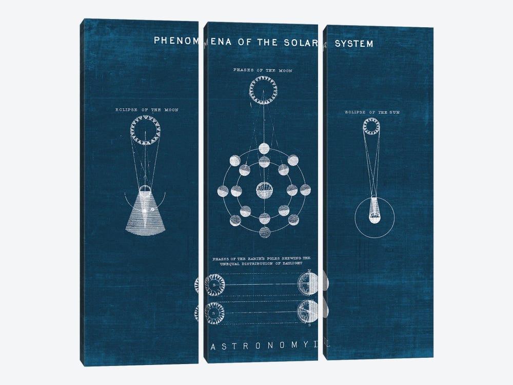 Solar System Blueprint II by Wild Apple Portfolio 3-piece Canvas Artwork