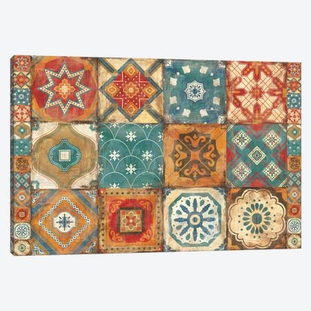 Moroccan Tiles Canvas Print #WAC9787} by Cleonique Hilsaca Canvas Wall Art