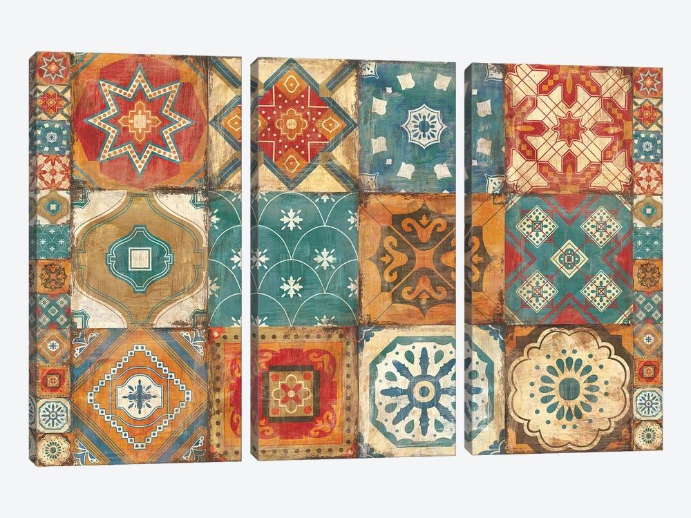 Moroccan Tiles by Cleonique Hilsaca 3-piece Canvas Print