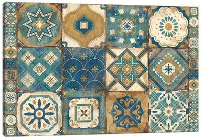 Moroccan Tiles Blue Canvas Art Print