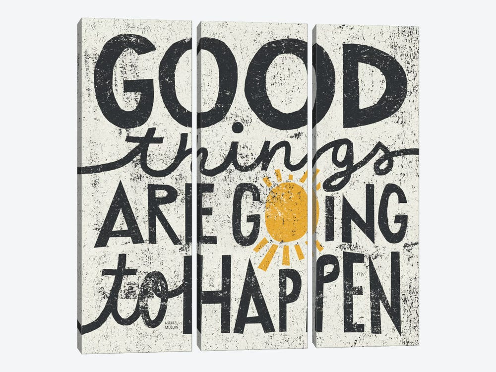 Good Things are Going to Happen by Michael Mullan 3-piece Canvas Art Print