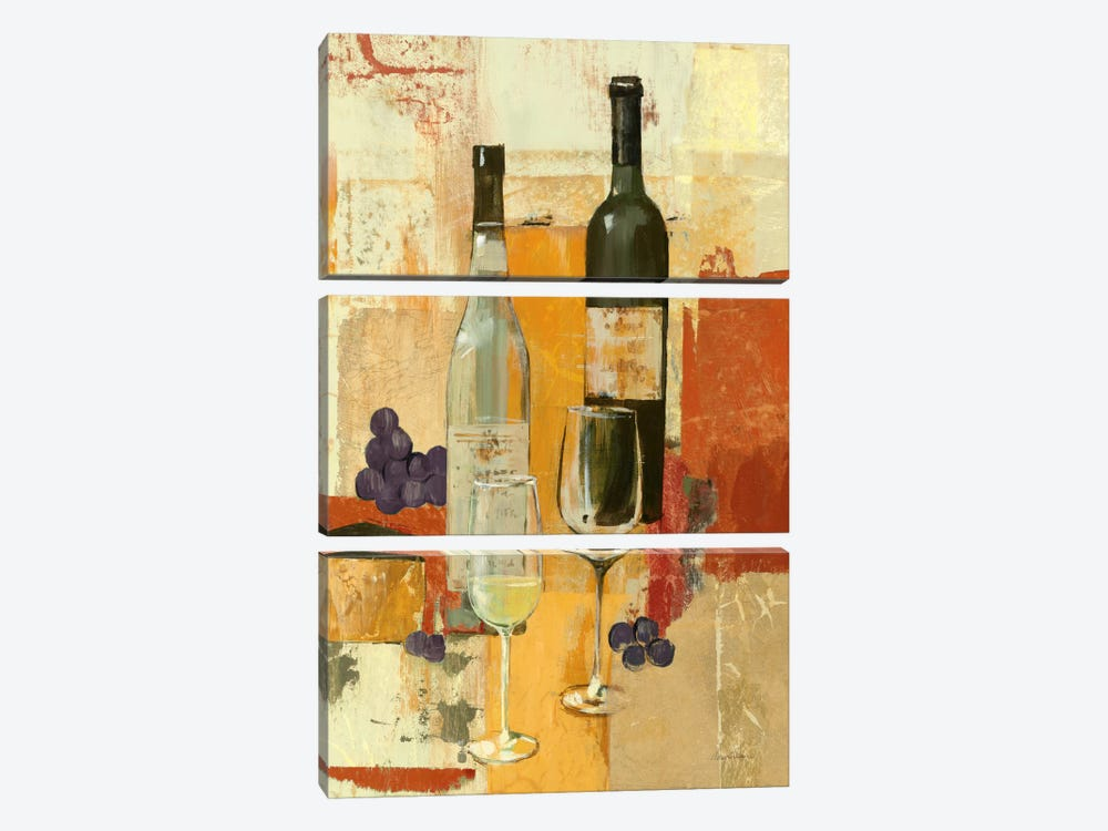 Contemporary Wine Tasting II by Avery Tillmon 3-piece Canvas Wall Art